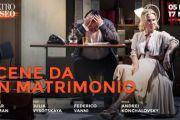 Scene da un matrimonio di Ingmar Bergman, regia di Andrei Koncialovsky, al Teatro Eliseo di Roma