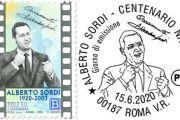 """Emesso, per la serie """"Le Eccellenze italiane dello Spettacolo"""", un francobollo dedicato ad Alberto Sordi nel centenario della nascita"""