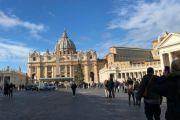 """La """"Sand Nativity"""" di Piazza San Pietro con la rena della spiaggia di Jesolo"""