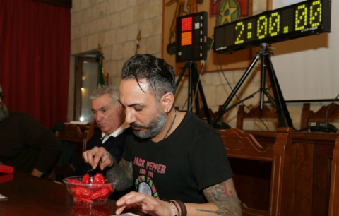 Giancarlo Gasparotto ad inizio prova Tarquinia 4 febb 2018 Guinness World Records