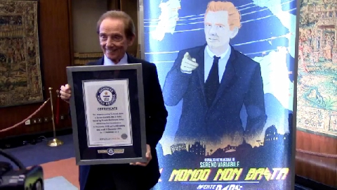 Osvaldo Bevilacqua Sereno Variabile Guinness World Records